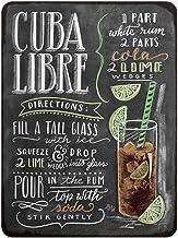 Kama Cuba Libres Cocktail Metal Sign Plaque Metal Vintage Pub Tin Sign Wall Decor for Bar Pub Club Man Cave Retro Metal Po...