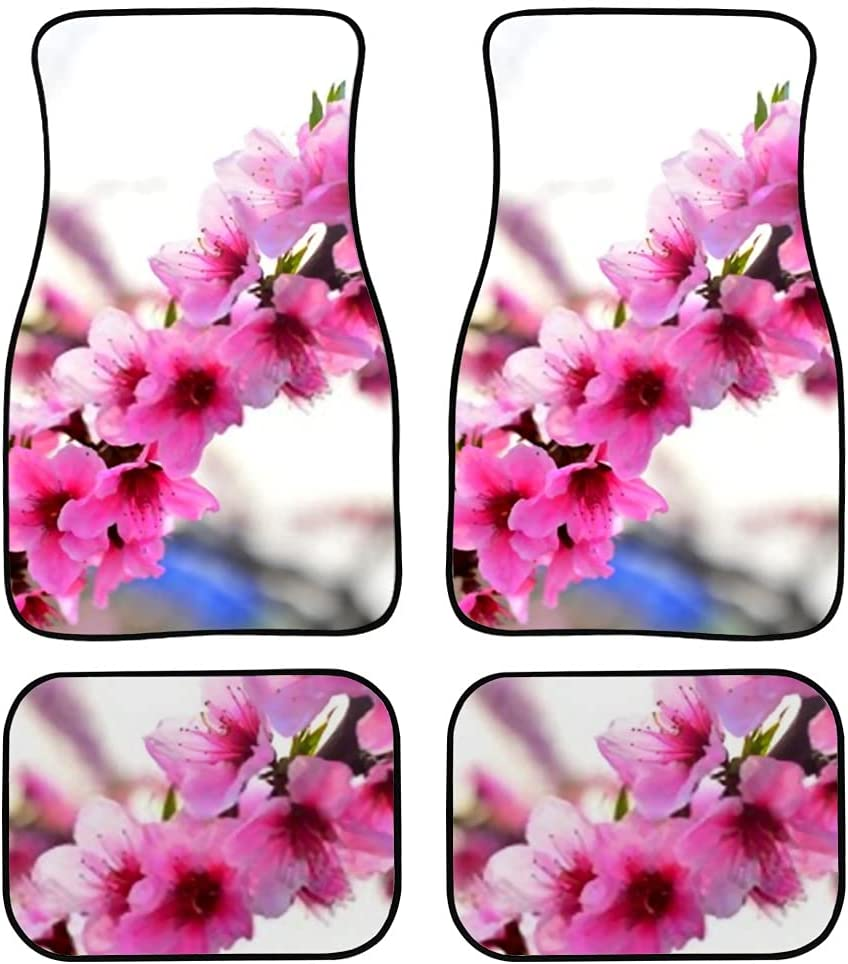 Max 49% OFF JIUCHUAN Car Floor Mats Full Bloom Design Print Ca Peach famous Blossom