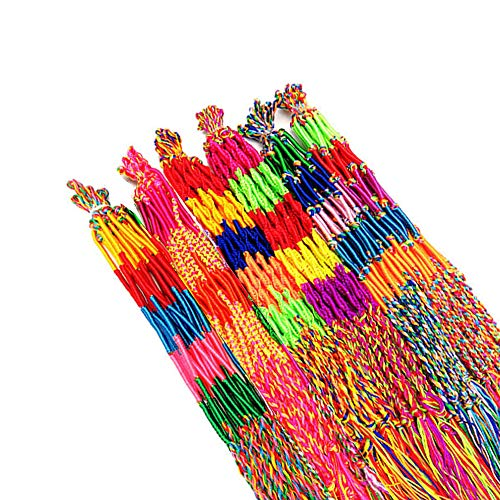 Aweisile 80pcs 4 Estilos Pulseras Trenzadas Pulseras de Hilo a Mano Coloridas Pulseras de Amistad Pulsera para Muñeca Tobillo Pelo y Fiestas (Color al Azar)