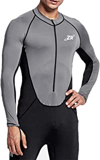Full Body Sport Rash Guard Dive Skin Suit for Swimming Snorkeling Diving Surfing with UV Sun Protection Long-Sleeve for Women