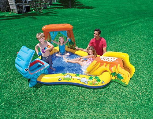 Intex Dinosaur Inflatable Play Center, 98in X 75in X 43in, for Ages 2+