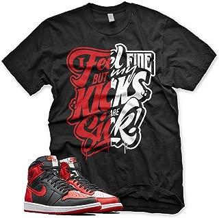 New SICK KICKS T Shirt for Jordan 1 Homage to Home NRG Bred Chicago Bull