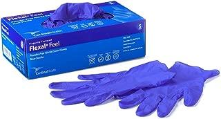 Cardinal Health 88TT21S Flexal Feel Nitrile Exam Gloves, Cool Blue, Small (Box of 300)