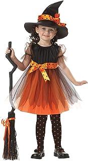 traderplus Girl Halloween Witch Costumes Dress, Hat & Knee Socks Set (3Pcs Set)