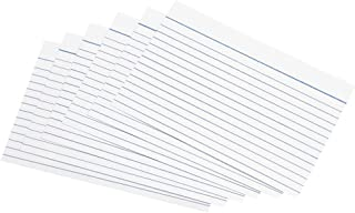 5 Star Record Cards Ruled Both Sides 6x4in 152x102mm White [Pack of 100]