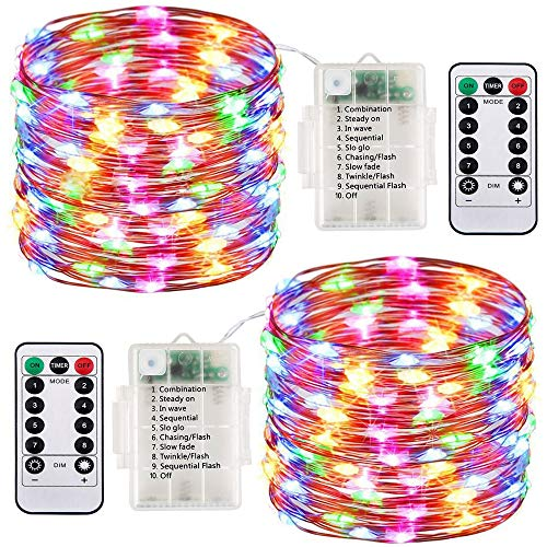 2 Pack LED Fairy Lights Battery Operated String Lights...