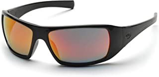 Pyramex Goliath Safety Eyewear, Black Frame, Ice Orange Lens