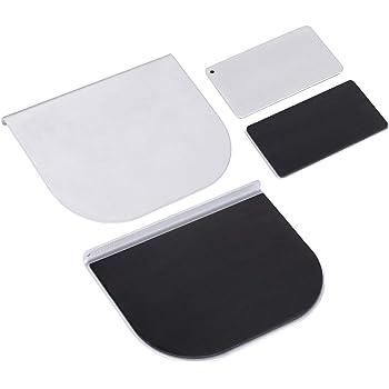 ZepSon モニターアーム補強プレート 取付部硬さ強化対策 デスク保護 傷防止 滑り止めシート付き シルバー