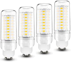 4 Pack GU10 LED Corn Bulbs 12W Warm White 3000K 100W Incandescent Bulbs Equivalent, LED 72 * 5730 SMD 1200Lm Energy Saving...