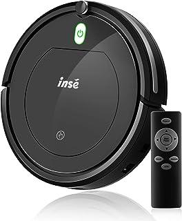 INSE Robot Aspirador Alta Potencia para Suelos Duros y Alfombras, Superfino,Silencioso, Ideal para pelos de Mascotas,Contr...