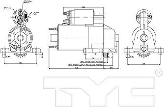 KarParts360: Fits 2001 2002 2003 2004 Mazda Tribute - Starter Motor Replaces AJC8-18-400R-0A- (Vehicle Trim: 3.0L V6 2968cc 181 CID)