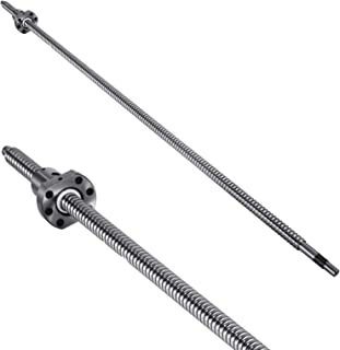Mophorn Ballscrew RM1605-900mm Antibacklash Ball Screws with BF12 and BK12 End Support + Couplers for CNC Route Grinding Machine
