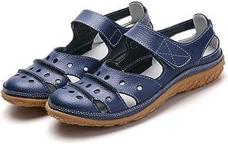 N/A Bottes pour Hommes, Chaussures Creuses de Grande Taille pour Femmes, Pantoufles Plates Confortables et Respirantes-B...