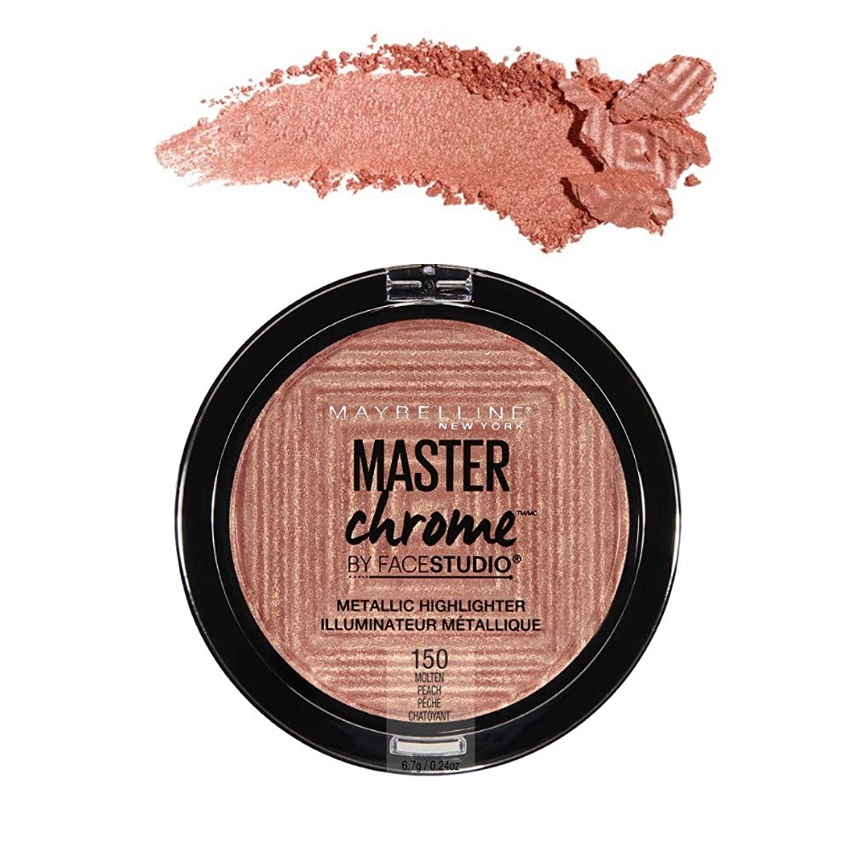 テロリスト失ボット(3 Pack) MAYBELLINE FaceStudio Master Chrome Metallic Highlighter - Molten Peach (並行輸入品)