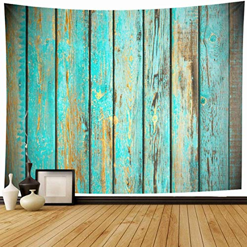 Tapestry Wall Hanging Brown Aging Old Wood Panels Panelling Abstract Blank Board Dark Empty Design Home Decor Tapestries Decorative Bedroom Living Room Dorm