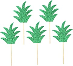 BESTOMZ 15pcs Pineapple Cake Topper Luau Hawaiian Cupcake Topper Cake Toothpicks for Tropical Themed Birthday Party Decorations