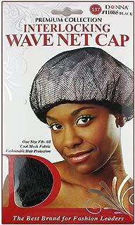 Donna's Premium Interlocking Wave Net Cap One Size Cool Mesh Fabric (Black)