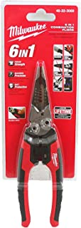Milwaukee 48-22-3079 6-In-One Combination Wire Stripping and Reaming Pliers for Electricians