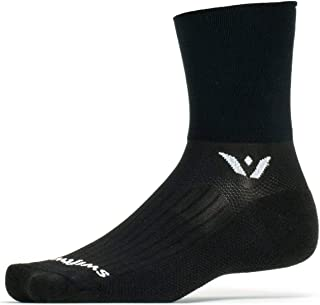 Swiftwick ASPIRE FOUR   Trail Running, Cycling Crew Socks, Fast Dry, Compression