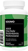 Amazon Brand - Solimo Adult One Daily Multivitamin Multimineral, 130 Tablets, Four Month Supply