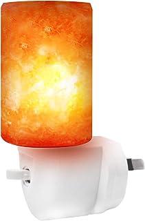 Betus [Natural Crystal] Himalayan Salt Wall Lamp - Air Purifying Night Light - 360° Rotatable Plug 7W Bulb - Cylindrical