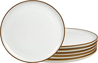 Mora Ceramic Plates, 10 inch - Set of 6 - Dinner Plate. Microwave, Oven, and Dishwasher Safe, Scratch Resistant, Modern Di...