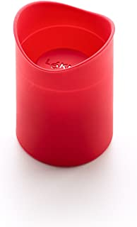 Lekue Individual Cookie Shot Glass Shape Baking Mold, Set of 8, Red