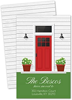 Front Door Personalized Moving Announcement - Red