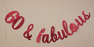 All About Details 60 & Fabulous Cursive Banner (Red)