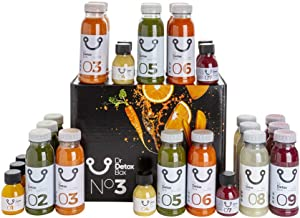 DrDetoxBox 3 Day Detox Juice Cleanse – 27 Freshly Cold Pressed Juices for Fasting Weight Loss or Metabolic Diet incl Manual Estimated Price : £ 89,95