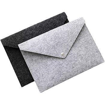 File folders-Felt Folder Expanding File Folder Paper Portfolio Case Letter Envelope A4 Folders (2 Pcs)