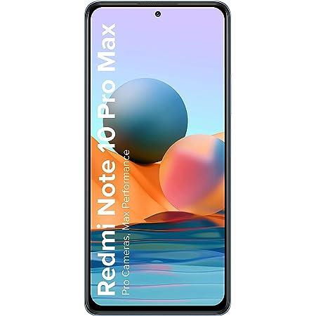 (Renewed) Redmi Note 10 Pro Max (Glacial Blue, 8GB RAM, 128GB Storage) -108MP Quad Camera | 120Hz Super Amoled Display