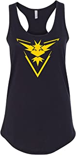 90202cf4 Pokemon Go Gym Team Instinct Yellow Womens Racerback Tank Top