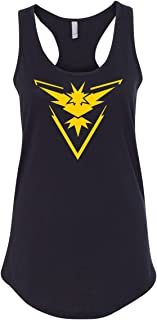 Pokemon Team Instinct Yellow Womens Racerback Tank
