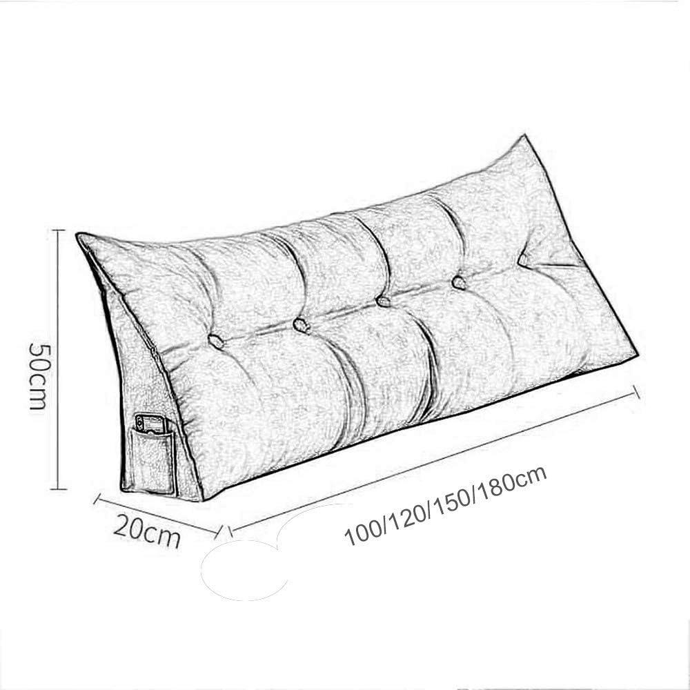 Coussin de lecture pour tête de lit - Coussin de lecture amovible - Double triangle - Vert foncé - 120 x 50 x 20 cm 150 X 50 X 20 Cm - Gingembre