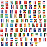 Länderflaggen von Juvale (100 Stück) – Flaggen von 100 Ländern der Welt - Als Multikulti-Party-Dekoration, zur Fußball-WM oder -EM - Polyester, Sortierte Farben - Je 13,2 cm x...