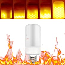 Gecheer LED Flame Flickering Effect Fire Light Bulb 3 Lighting Modes E26 Base SMD2835 Creative Decorative Atmosphere Lamp ...