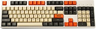 YMDK Carbon 61 87 104 Top Print Keyset Thick PBT OEM Profile Keycaps for MX Mechanical Keyboard (104)
