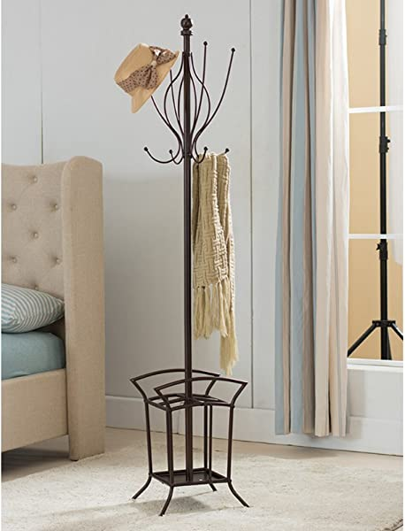 K B Furniture Metal Coat Rack With Umbrella Stand 69H In