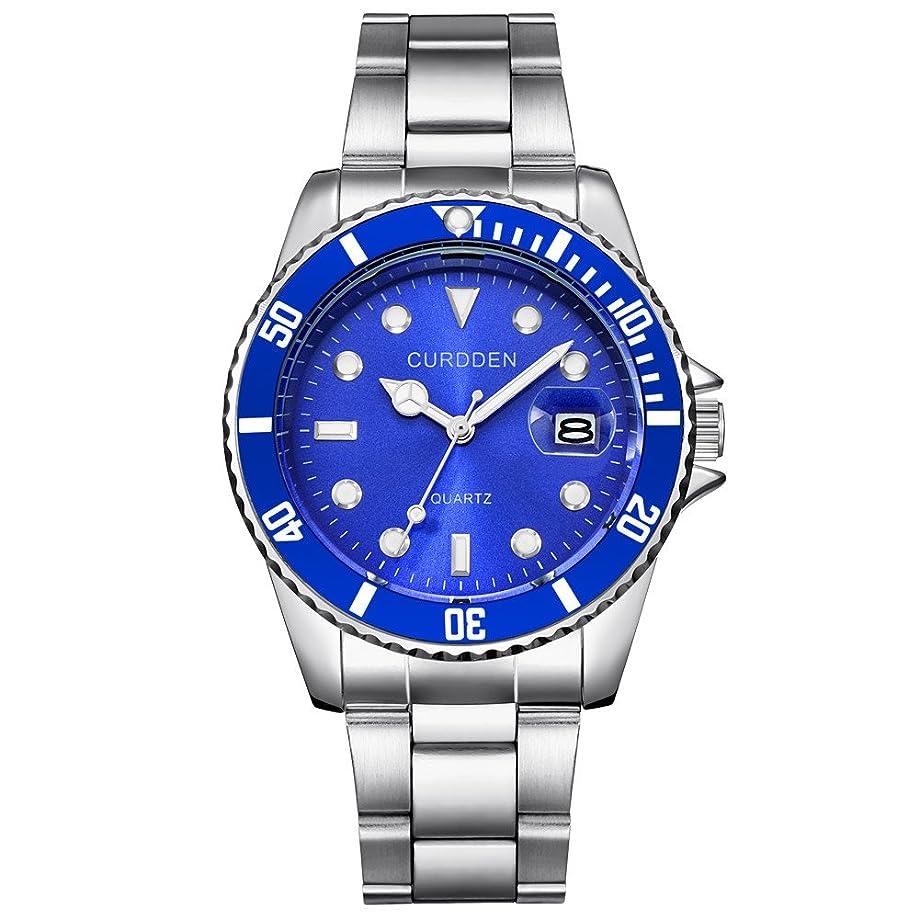 Charberry 2019 Classic Business Men Calendar Stainless Steel Wristwatches Analog Quartz Sport Wrist Watch