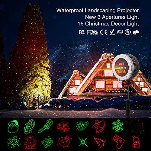 Outdoor Laser Light SUNY 3 Lens Christmas