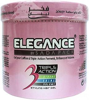 Elegance Triple Action Styling Hair Gel 1L - Pink [ELE-105]