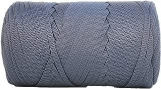 Glossy Tape Yarn 110 Yards/Bulky Yarn/Fast Track/Crochet/Knitting Yarn/XL Yarn/Modern Crochet/Ribbon Yarn (Lead)