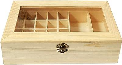 Acan Caja Madera con 22 Compartimiento Forma Rectangular 28 x 14 x ...