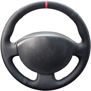 CYBHR handmade Automotive interior Car Steering Wheel Covers,for Renault Kangoo 2008 Megane 2 2003-2008 Scenic 2 2003-2009