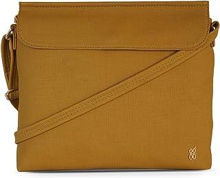 Baggit Autumn/Winter 2020 Faux Leather Women's Satchel Handbag (Yellow) (Tompy)