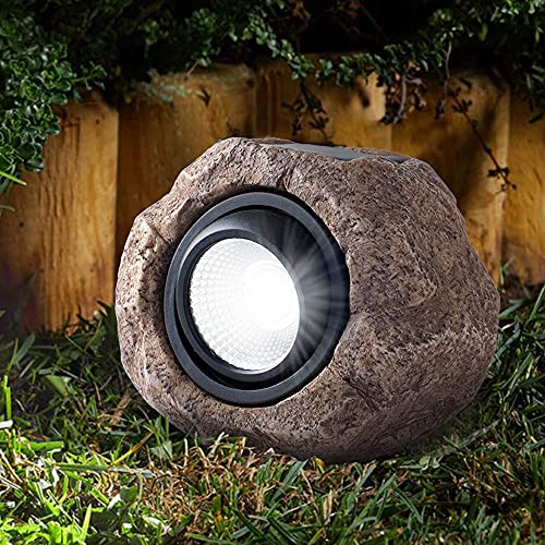 Solar Rock Light, Outdoor Decorative Garden Spotlight for Yard, Landscape, Patio