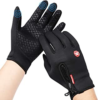 Cycling Gloves,Windproof Touchscreen Bicycle Gloves in Outdoor Bike Gloves Adjustable Size.