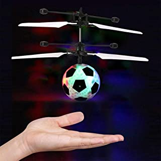 Mini RC Magic Marvel Flying Ball Drone Infrared Induction Sensing Helicopter Balls, Remote Control Soccer Ball Kids Toys, Best Christmas Birthday Gifts for Adults Teens, LED Lights Colorful.