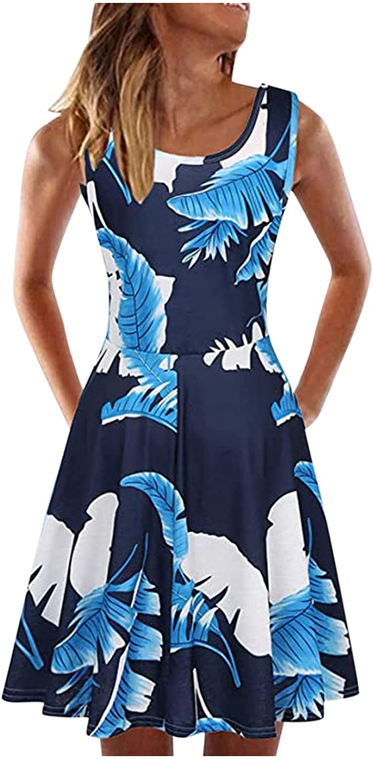 Dress for Women Summer Sleeveless A-line Tank Casual Latest item Short Price reduction